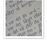 Nils Ferlins dikt Barfotabarn handtextad på papper.
