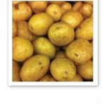 Oskalad potatis.