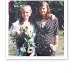 Jag och Therese, uppklädda när jag slutade nionde klass.