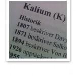 Text om Kalium ur Näringsmedicinska Uppslagsboken.