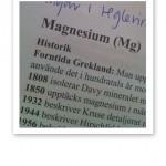 Text om Magnesium ur Näringsmedicinska Uppslagsboken.