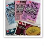 Tre trisslotter och två Tia-lotter