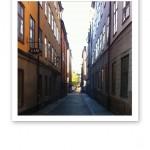 En smal gränd i Gamla Stan, Stockholm