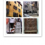 Collage av bilder på byggnader och fasader i Kroatien 2013.