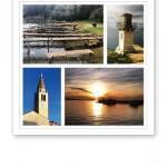 Collage av bilder på vyer i Kroatien 2013.