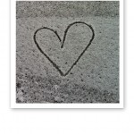 hjärta i pudersnö