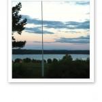 En stilla och ljus sommarnatt i Jämtland.