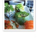 Närbild på sushi från Sticks'n'Sushi, på Tivoli Hotel Köpenhamn.