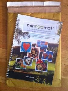Matbok + kuvert, färdigt att skicka.