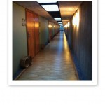 Tyst och stilla korridor.