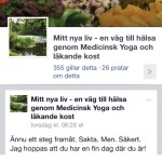 Mitt nya livs Facebook-sida.