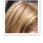 Ekologiskt blonderat hår.