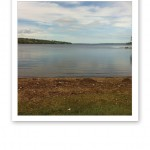 Badplats vid en sjö