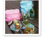 Picknick i pastell på bryggan.
