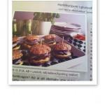 Förslag på glutenfri hamburgare.