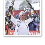 VM-guld för Charlotte Kalla i Falun 2015.