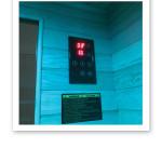 infraröd bastu temperatur och tid